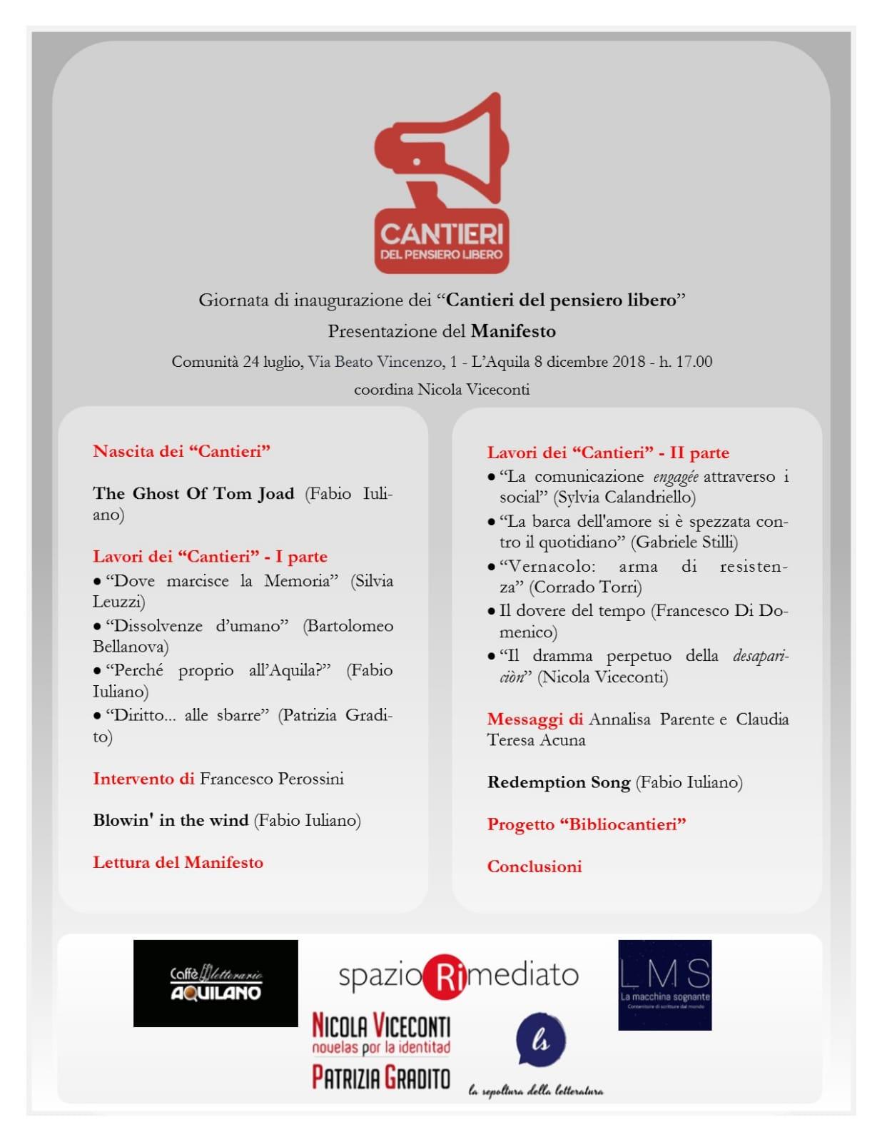Locandina L'Aquila 08-12-2018