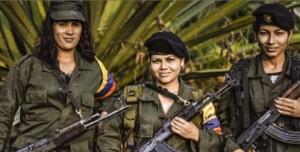 Donne guerrigliere delle FARC Faro di Roma