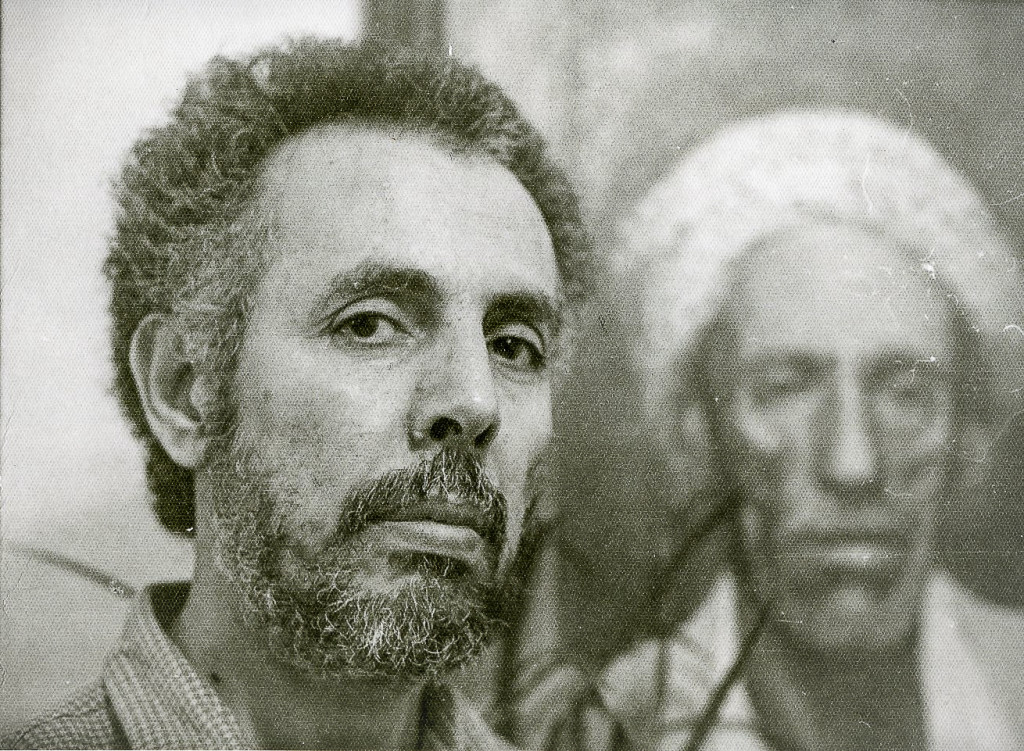 FAWZI with his painting of His father