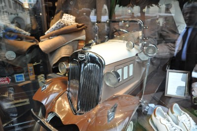shop window display, Brescia, Mille Miglia